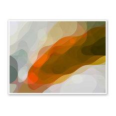 "Plume, Large Canvas, White Floating Frame,  46""x34"""