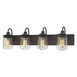 Elk Hamel Metal Wall Vanity Light, Oil Rubbed Bronze