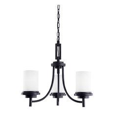 Sea Gull Lighting 3-Light Chandelier, Blacksmith
