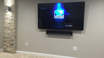Basement TV and Soundbar