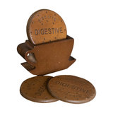 Set of 4 Wooden Biscuit Coasters