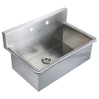 Noah's Collection Brushed Stainless Steel Commercial Drop-In Laundry-Scrub Sink