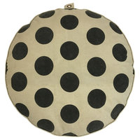 Floor Pouf - Polka Dots with Stripes