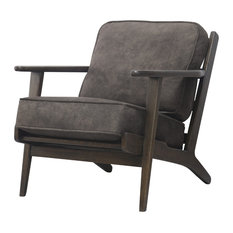 Albert Armchair, Pewter Hide