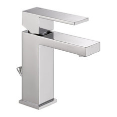 Delta Faucet   Delta Modern Faucet With Single Lever Handle, Polished  Chrome   Bathroom