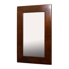 14x24 Fox Hollow Furnishings Mirrored Medicine Cabinet, Caramel