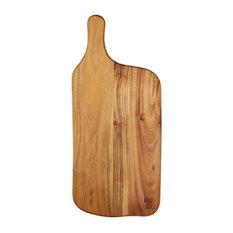 Raw Teak Wood Rectangular Chopping Board, Large