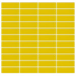 susan jablon - 1x3 Inch Bright Yellow Glass Subway Tile, Full Sheet, Stacked - This electric, bright yellow, glossy subway glass tile is just the thing for kitchens, bathrooms or entrances where you want a bright, sunny uplifting look.