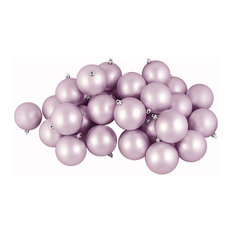 "Northlight Seasonal - 3.25"" Matte Shatterproof Christmas Ball Ornaments, 32-Piece Set, Lavender Purple - Christmas Ornaments"