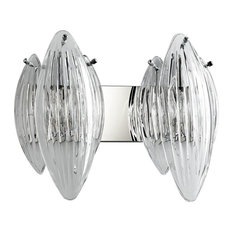 Cyan Design Arista 2 Lights Vanity, Chrome
