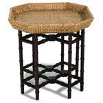 Padma's Plantation - Urban End Table - When looking for sleek and simple lines, our Urban End Table Table is the answer. Intimate in size, this angular shaped rattan table can be both casual and formal, depending on the accessories. Rattan peel weave and plantation hardwoods take on a contemporary look in this design.