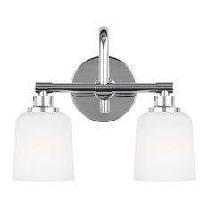Feiss 2-Light Vanity-Light Fixture, Chrome