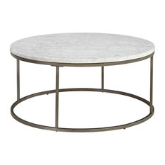 Brikk Reese Coffee Table White Marble Tables