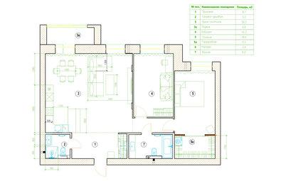 Поиск планировки: «Двушка» с кухней-гостиной в 40 кв.м — 4 плана