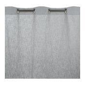 "Eyelet Curtain Bellevue, Pale Gray, 57.1""x108.3"""