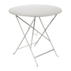"Bistro 30"" Round Folding Table, Steel Gray"