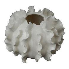 """Porcelain Coral Statue 7x5.5"""""""
