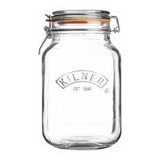 Kilner Clip Top Square Jar, 1.5 l.