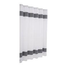 Unique Turkish Cotton Shower Curtain, Anthracite