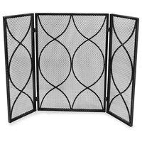 Laylah Modern Three Panel Iron Firescreen