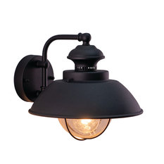 """Harwich 10"""" Outdoor Wall Light, Textured Black, 10-in. W X 10.25-in. H X 11.5-in"""