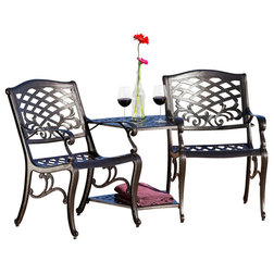 Mediterranean Outdoor Lounge Sets by GDFStudio