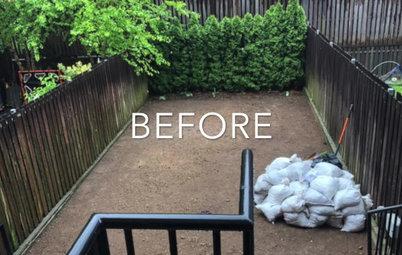 Houzz США: Переделка заднего двора при таунхаусе