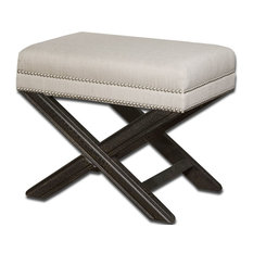 - Viera Small Bench by Uttermost - Footstools, Cubes and Ottomans