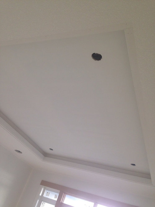 What Are The Design Rules For Painting In Coffered Ceiling Same As Walls Or Darker And About That Trim At Edge Of It