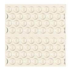 Adobe Textured Subway Tiles, White, Set of 11