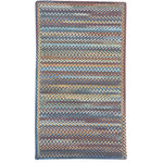 """Capel Rugs - Kill Devil Hill Cross Sewn Braided Rectangle Rug, Medium Blue, 2'3""""x9' Runner - Reversible and durable, Capel braids are a hallmark of American tradition. Features: Construction: Braided Country of Origin: USASpecifications: Pile Height: 3/8"""" - 1/2"""""""