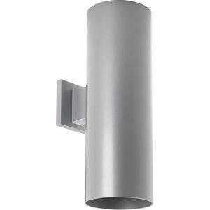 2-Light Wall Lantern, Metallic Gray