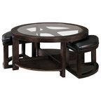 Magnussen T1096 45 Newark Wood Round Coffee Table