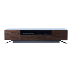 Vig Furniture Inc. - Modrest Gillian Contemporary White & Walnut TV Stand - Entertainment Centers and Tv Stands