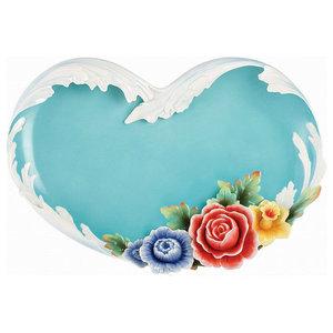 Blue 4 Pack Merritt International Floral Sketchbook 6in salad bowl