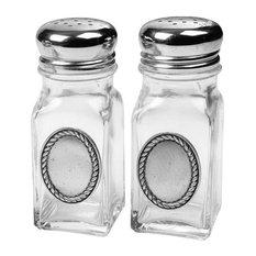 Rope Edge Salt and Pepper Shakers