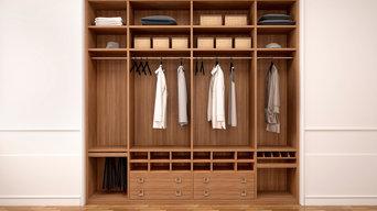 Beautiful wood built-in closet