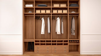 Beautiful wood built-in closet