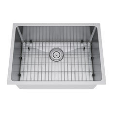 "Single Bowl Undermount Stainless Steel Kitchen Sink Set, 25""x18"""