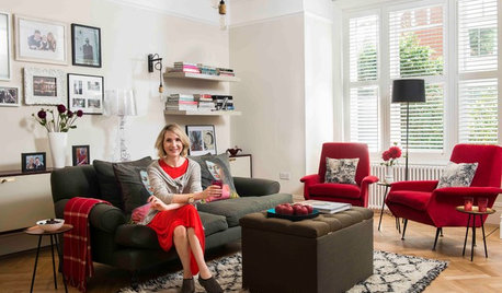 Tour a London Designer's Living Room and Get Custom Storage Tips