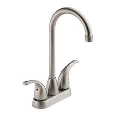 Peerless Bar Faucet with Double Blade Handle in Stainless Steel