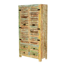 Charmant Sierra Living Concepts   Pennsylvania Rustic Reclaimed Wood Hand Carved Large  Armoire Cabinet   Armoires And