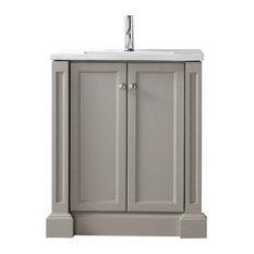 "Legion Furniture Sink Vanity With Ceramic Top, Warm Gray, 30"""