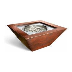 "Sierra Copper Fire Pit Bowl, Match Lit, Propane, 36"""