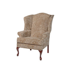Comfort Pointe   Paisley Cream Wingback Chair   Armchairs And Accent Chairs