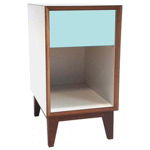 Pix Large Scandinavian Bedside Table, Pale Turquoise