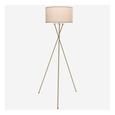 Brightech Jaxon Tripod LED Floor Lamp, Antique Brass