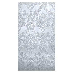 Wallpaper flocking gray silver Metallic Flocked damask velvet, 21 Inc X 33 Ft Ro