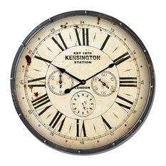 Dark Kensington Metal Wall Clock