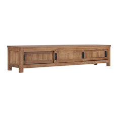 VidaXL Solid Teak Wood TV Cabinet 59.1-inch Entertainment TV Media Stand Unit